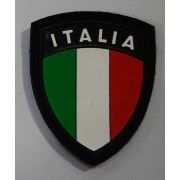 Scudetto Italia stampato su tessuto blu per Marina e Aeronautica militare