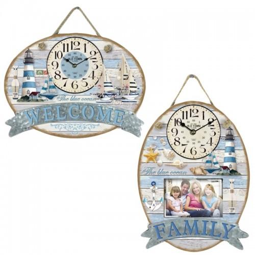 Orologio con stampe marine da parete for Stampe da parete